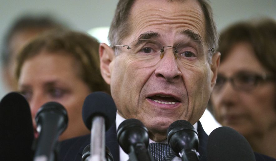 Rep. Jerrold Nadler, who is in line to chair the House Judiciary Committee, says the panel plans to immediately summon Mr. Whitaker to testify about Mr. Mueller's investigation into Russian interference in the 2016 elections. (Associated Press)