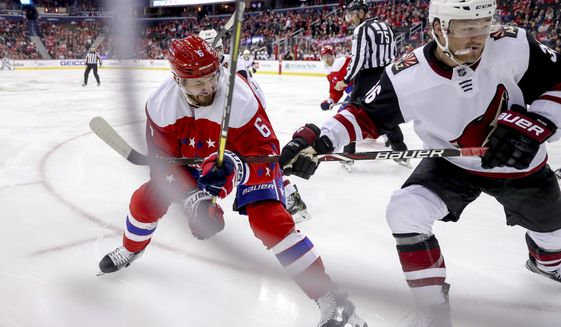 4f56227860c Capitals  homestand ends with a thud in loss to Coyotes - Washington Times