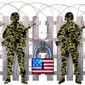 Illustration on border defense by Greg Groesch/The Washington Times