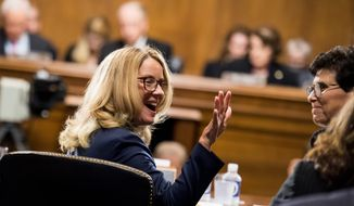 Christine Blasey Ford, who accused Justice Brett M. Kavanaugh of attempted rape more than three decades ago, received more pledges over the weekend through two GoFundMe accounts. It's not clear whether Ms. Blasey Ford has accessed the money. (Associated Press)