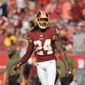 """If something bad happens, [our fans] sulk. They sit back in their seat and they boo,"" Redskins cornerback Josh Norman said about playing at FedEx Field. (ASSOCIATED PRESS)"