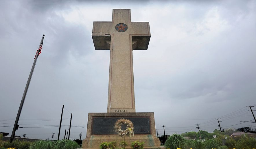 The Supreme Court will decide if the Peace Cross violates the Constitution's Establishment Clause. (Associated Press)