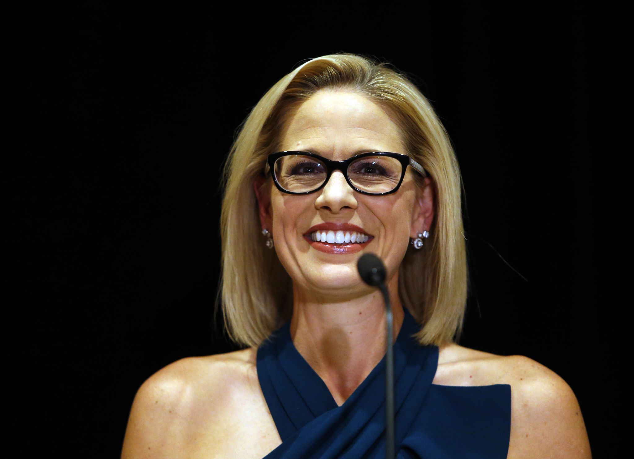 Jeff Flake congratulates Krysten Sinema on winning his Senate seat in Arizona