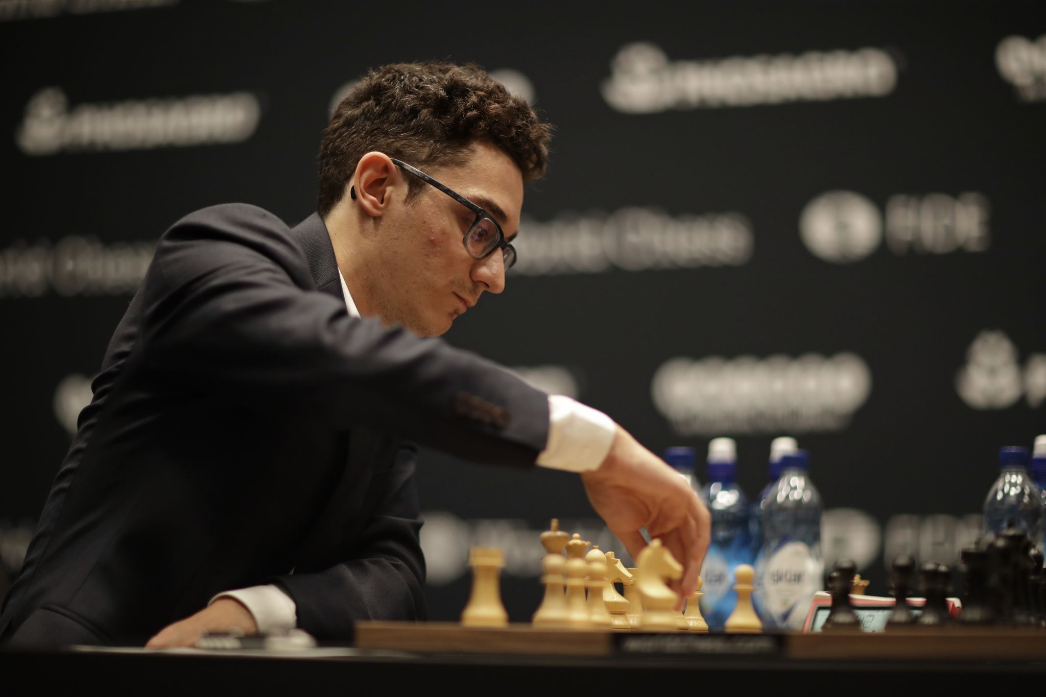 Caruana just misses win against champ in world chess title fight