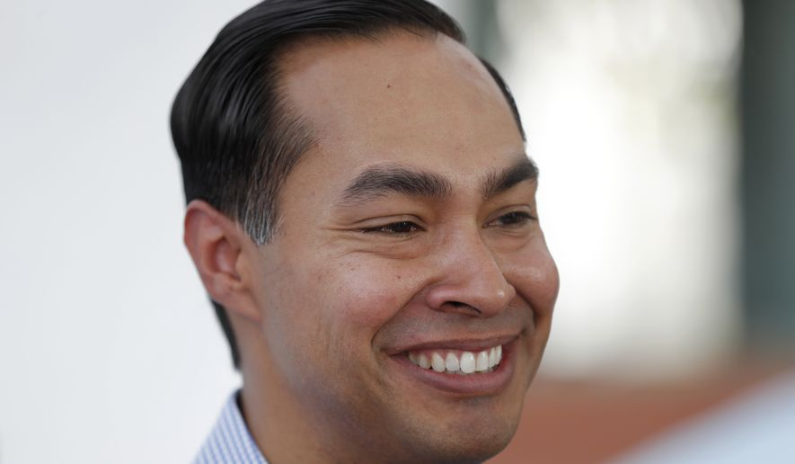 Former Housing and Urban Development Secretary Julian Castro is meeting with potential supporters about running for president in 2020 (AP Photo/Charlie Neibergall File)