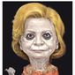 Hillary Clinton illustration by Alexander Hunter/The Washington Times