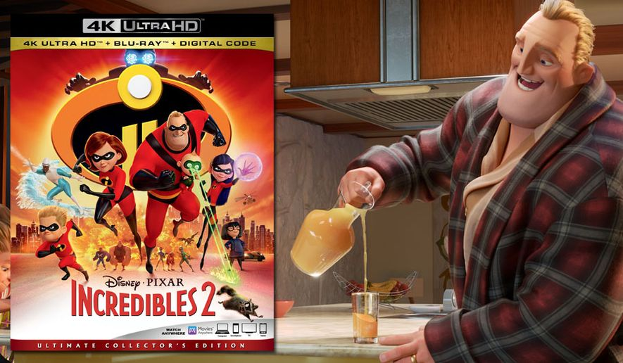 """Bob Parr pours a tasty glass of orange juice in """"Incredibles 2: Ultimate Collector's Edition,"""" now available on 4K Ultra HD from Walt Disney Studios Home Entertainment."""