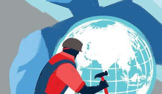Illustration on investment in the Indo-Pacific region by Linas Garsys/The Washington Times
