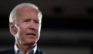 Former Vice President Joe Biden speaks during a campaign rally for incumbent Sen. Claire McCaskill, D-Mo., Wednesday, Oct. 31, 2018, in Bridgeton, Mo. McCaskill is running for re-election. (AP Photo/Jeff Roberson)