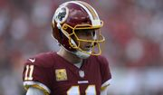 Washington Redskins quarterback Alex Smith (11) during the second half of an NFL football game against the Tampa Bay Buccaneers Sunday, Nov. 11, 2018, in Tampa, Fla. (AP Photo/Jason Behnken)