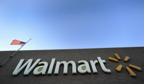 This Nov. 9, 2018, file photo shows a Walmart Supercenter in Houston. Walmart Inc. reports earnings Thursday, Nov. 15. (AP Photo/David J. Phillip, File)