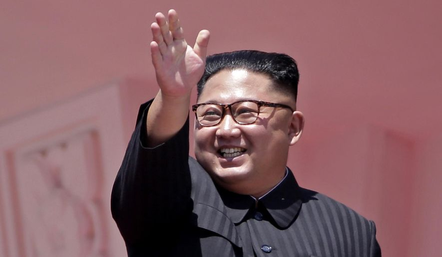 In this Sunday, Sept. 9, 2018, file photo, North Korean leader Kim Jong-un waves after a parade for the 70th anniversary of North Korea's founding day in Pyongyang, North Korea. (AP Photo/Kin Cheung, File)