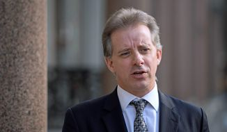 Dossier author Christopher Steele acknowledged he was desperate to stop the Trump campaign and prompt the FBI to ratchet up its investigation. (Associated Press/File)