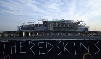 FedEx Field is seen in this general view prior to an NFL football game between the Houston Texans and Washington Redskins, Sunday, Nov. 18, 2018, in Landover, Md. (AP Photo/Mark Tenally)