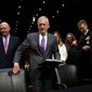 Defense Secretary James Mattis (center) has advised against lawmakers placing time constraints on the use of military force. (ASSOCIATED PRESS photographs)