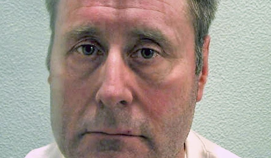 Undated photo issued by the London Metropolitan Police, showing John Worboys, rapist who assaulted women he picked up in his taxi who was convicted in 2009.  A U.K. Parole Board panel ruled Monday Nov. 19, 2018, that serial rapist who is believed to have attacked more than 100 women, Worboys must stay in prison, ruling that he is not suitable for release. (Metropolitan Police FILE via AP)