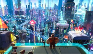 "This image released by Disney shows a scene from ""Ralph Breaks the Internet.""  (Disney via AP)"
