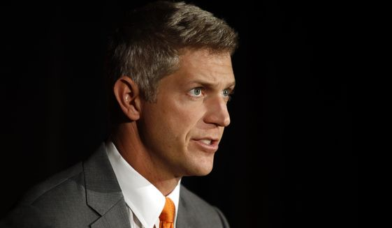 Mike Elias, the Baltimore Orioles' new executive vice president and general manager, speaks at a baseball news conference, Monday, Nov. 19, 2018, in Baltimore. (AP Photo/Patrick Semansky) **FILE**