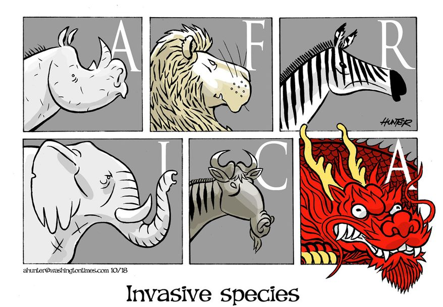 Illustration by Alexander Hunter for The Washington Times (published November 20, 2018)