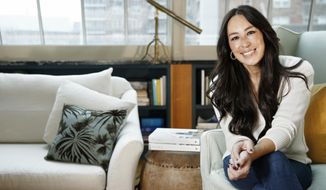 """In this Nov. 6, 2018 photo, Joanna Gaines poses for a portrait at the Gotham Hotel in New York to promote her book """"Homebody: A Guide to Creating Spaces You Never Want to Leave."""" (Photo by Brian Ach/Invision/AP)"""