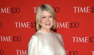 In this April 24, 2018, file photo, Martha Stewart attends the Time 100 Gala celebrating the 100 most influential people in the world in New York. (Photo by Evan Agostini/Invision/AP, File)