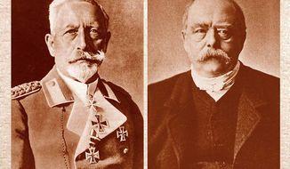 Wilhelm II and Bismarck Associated Press photos