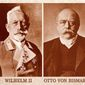 Wilhelm II and Bismarck Associated Press photos
