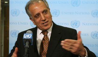 Zalmay Khalilzad is not wasting any time as he seeks to forge an elusive peace deal with three days of talks with top Taliban members. (Associated Press)