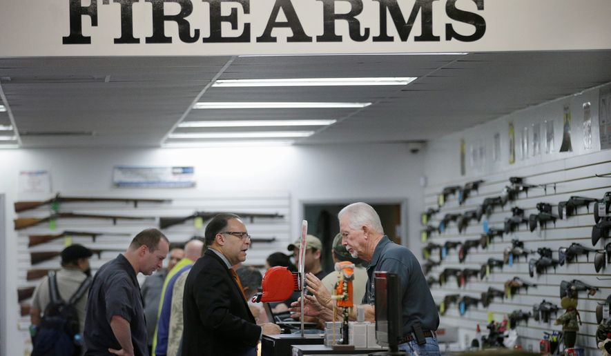 October had the fewest number of gun sales in seven years, according to the National Shooting Sports Foundation, the leading trade group for the firearms industry. (Associated Press)