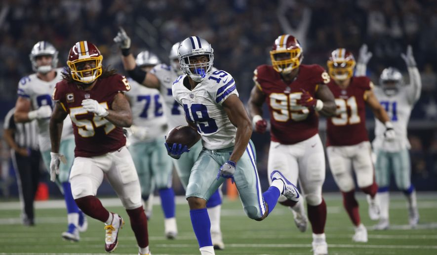 df3cd2d18ae Dallas Cowboys wide receiver Amari Cooper (19) runs in for a touchdown  against the