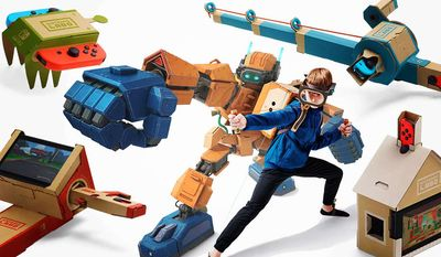 Nintendo's Labo Kits allows youngsters to become robots. (Courtesy Nintendo)