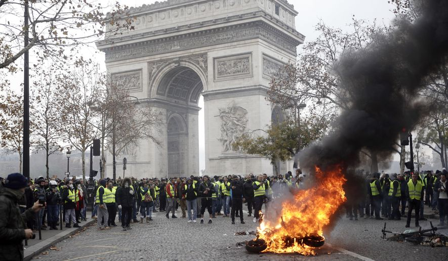 Image result for paris protests 2018