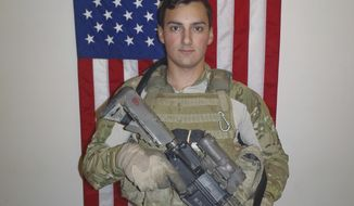 In this undated photo released by the United States Special Operations Command (USSOCOM)/Department of Defense shows Sgt. Leandro Jasso, 25, who was assigned to Company A, 2d Battalion, 75th Ranger Regiment, Joint Base Lewis-McChord, Washington. Sgt. Jasso was wounded by small arms fire while conducting combat operations in Afghanistan. He was immediately treated and medically evacuated to the nearest medical treatment facility, where he died of his wounds. (United States Special Operations Command/Department of Defense via AP)