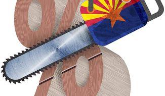 Arizona Tax Relief Illustration by Greg Groesch/The Washington Times