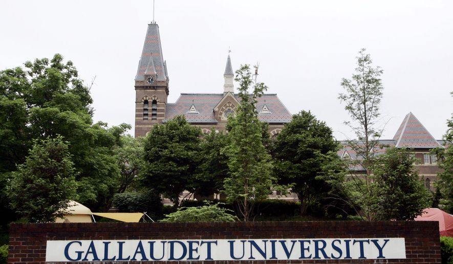 The campus of Gallaudet University is shown on Monday, May 8, 2006 in Washington.  (AP Photo/Evan Vucci) **FILE**