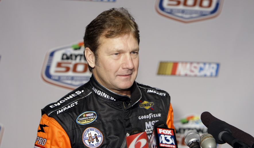 NASCAR driver Rick Crawford at media day at Daytona International Speedway in Daytona Beach, Fla., Thursday, Feb. 5, 2009. (AP Photo/John Raoux)