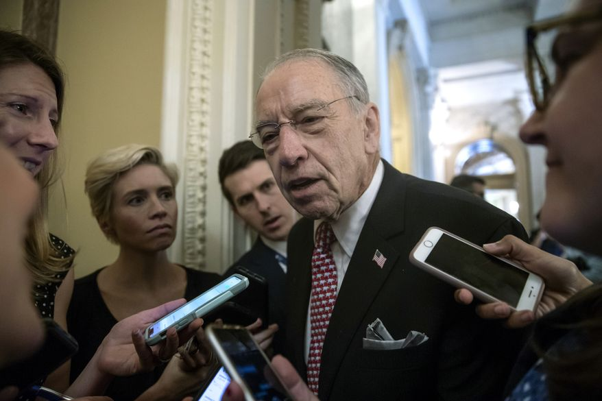 Having Sen. Chuck Grassley on board this time around could be crucial. The Iowa Republican is chairman of the Judiciary Committee and was a vocal critic of Congress's decision to allow for the boost in visas the last two years. (Associated Press)
