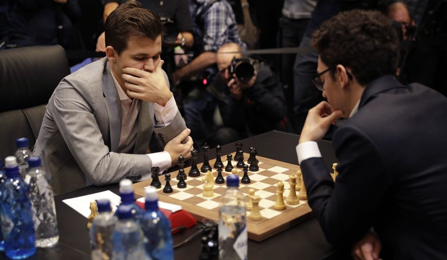 25fa4c0bc945 One more Magnus Carlsen-Fabiano Caruana draw sends tied chess title ...