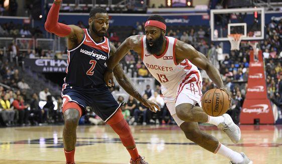 01184f2640b6 Wizards overcome James Harden s big night to top Rockets - Washington Times
