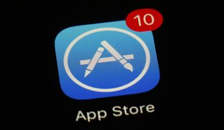 This March 19, 2018, file photo shows Apple's App Store app in Baltimore. (AP Photo/Patrick Semansky, File)