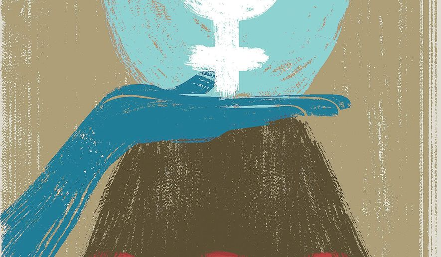 Illustration on aspects of the newest 'Year of the Woman' by Linas Garsys/The Washington Times