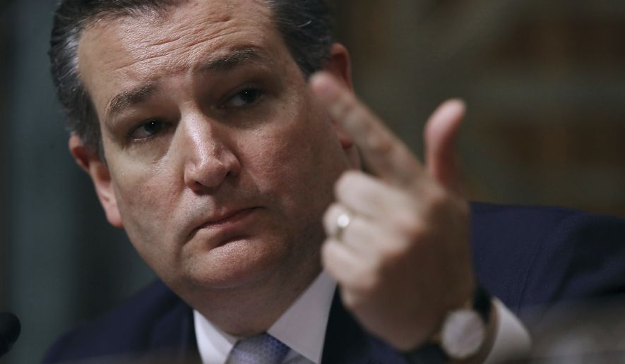 Sen. Ted Cruz, Texas Republican. (Associated Press photograph)