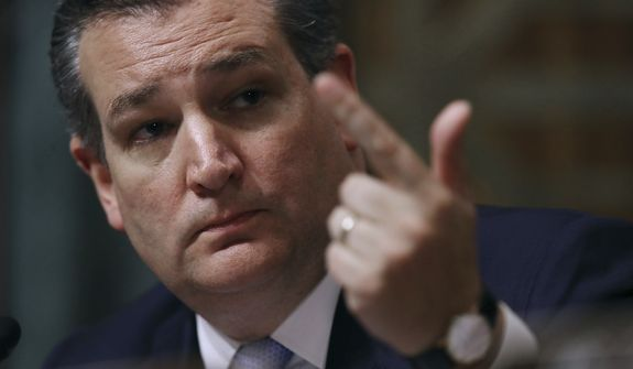 Sen. Ted Cruz, Texas Republican. (Associated Press photograph)