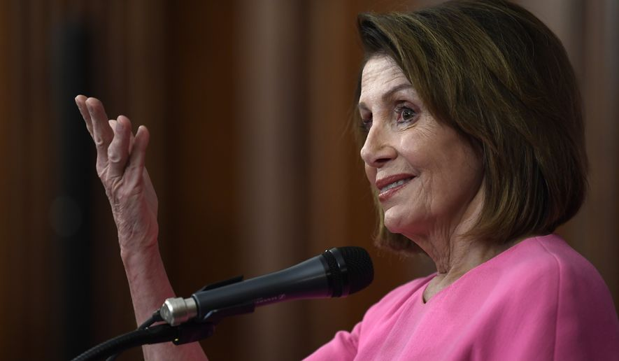 House Minority Leader Nancy Pelosi of Calif., speaks during a news conference on Capitol Hill in Washington, Wednesday, Nov. 7, 2018. (AP Photo/Susan Walsh)