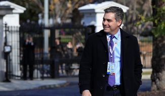 In the infamous press conference with President Trump earlier this month, Jim Acosta said the president was all wrong about the migrant caravan that was then marching toward the U.S.-Mexican border. (Associated Press photograph)