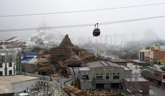 Genting Theme Park is pictured at Genting Highland Resort in Pahang, Malaysia, Tuesday, Nov. 27, 2018. Resort developer Genting Malaysia filed a lawsuit in California seeking at least $1 billion in damages from Walt Disney Co. and Fox Entertainment Group for alleged breach of contract related to a theme park, the company said Tuesday. (AP Photo/Yam G-Jun)