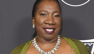 """FILE - In this Oct. 12, 2018, file photo, Tarana Burke arrives at Variety's Power of Women event at the Beverly Wilshire hotel in Beverly Hills, Calif. Burke, an activist who coined the phrase """"Me Too"""" more than a decade before it became a global slogan for survivors of sexual violence, is one of three people selected for the MIT Media Lab Disobedience award. Organizers say the award highlights effective, ethical disobedience across disciplines like scientific research, civil rights, freedom of speech and human rights. (Photo by Jordan Strauss/Invision/AP, File)"""