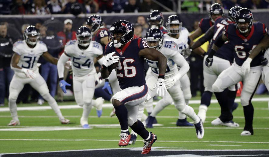 Texans look to build on big rushing performance - Washington