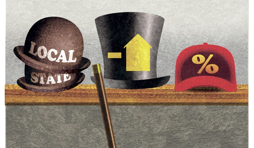 Illustration on tax reform opportunities by Alexander Hunter/The Washington Times