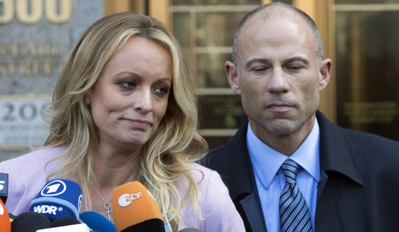 Stormy Daniels and Michael Avenatti have been fixtures on cable television over the past year. (Associated Press/File)
